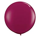 3' SPARKLING BURGUNDY QUALATEX LATEX