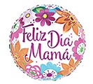 "17""SPA FELIZ DIA MAMA BRIGHT FLOWERS"