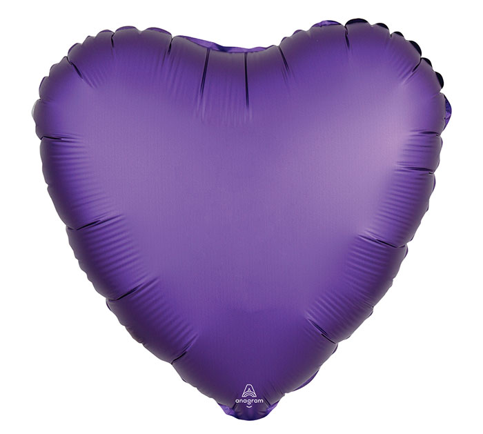 "17""PKG PURPLE ROYALE SATIN LUXE HEART"