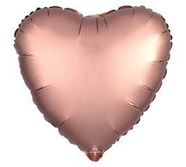 "17""PKG ROSE COPPER SATIN LUXE HEART"