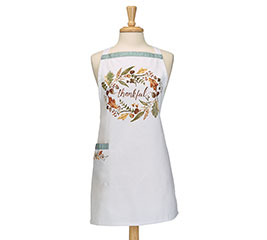 THANKFUL FALL WREATH ADULT APRON