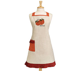 ADULT APRON WITH PUMPKINS