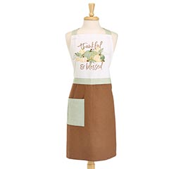 THANKFUL AND BLESSED ADULT APRON