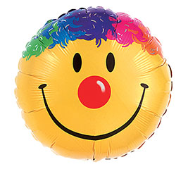 "36""PKG SMILE FACE MULTICOLORED HAIR"