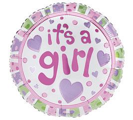 """17""""PKG BABY GIRL DOT"""