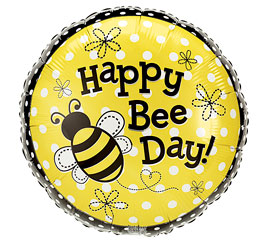"""18""""PKG HAPPY BEE DAY"""