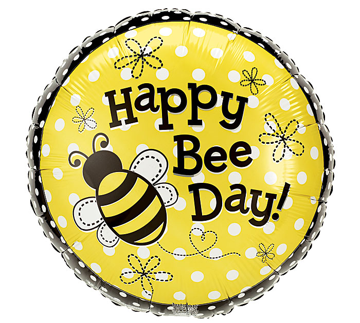 "18""PKG HAPPY BEE DAY"