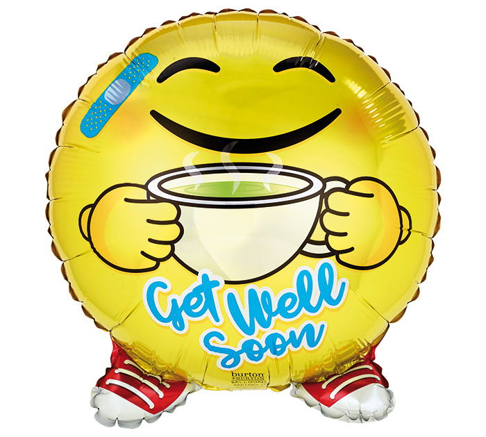 "18""PKG GET WELL SOON EMOJI SHAPE"