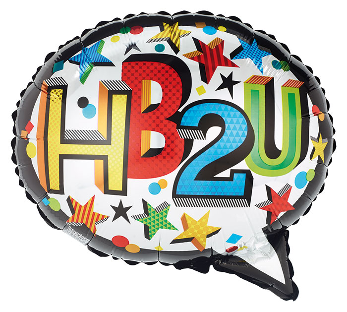 "18""PKG HB2U SPEECH BUBBLE SHAPE"