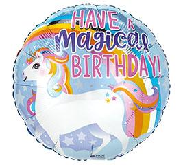 "17""PKG HAVE A MAGICAL BIRTHDAY UNICORN"