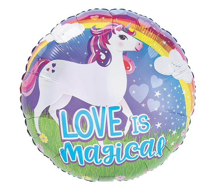 "17""PKG LOVE IS MAGICAL UNICORN"