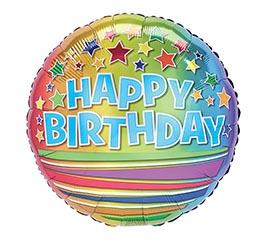 "17""PKG BIRTHDAY STARS  STRIPES OMBRE"