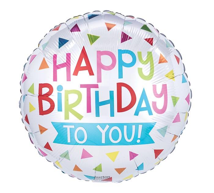 """17""""PKG HAPPY BIRTHDAY TO YOU TRIANGLE"""