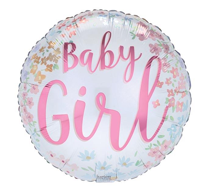 """17""""PKG BABY GIRL FLOWERS"""