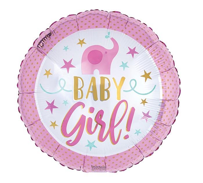 "17""PKG BABY GIRL PINK ELEPHANT"