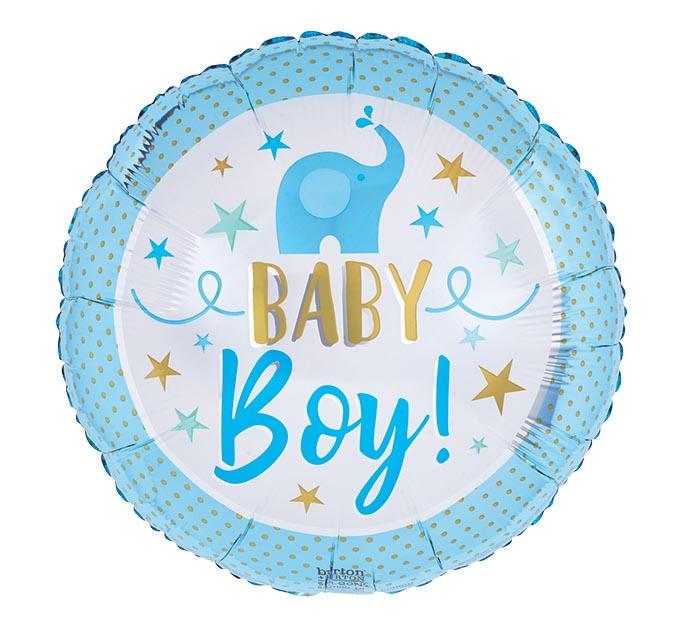 "17""PKG BABY BOY BLUE ELEPHANT"