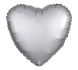 "17""PKG PLATINUM SATIN LUXE HEART"