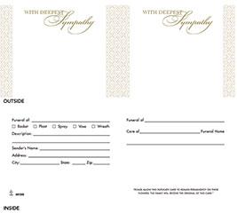 ENCL CARD SYMPATHY TWO-PART