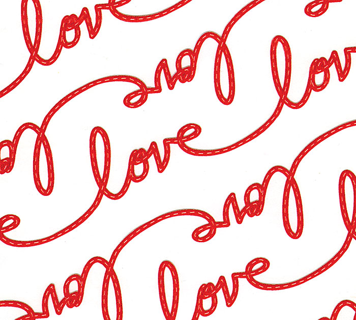 "24""X100' LOVE  TIES"