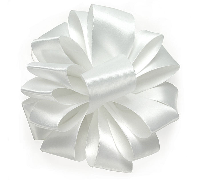 #9 WHITE DOUBLE FACE SATIN RIBBON