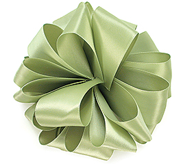 #9 SPRING MOSS DOUBLE FACE SATIN RIBBON