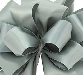 #9 DARK SHALE DOUBLE FACE SATIN RIBBON