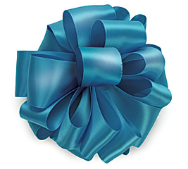 #9 TURQUOISE DOUBLE FACE SATIN RIBBON
