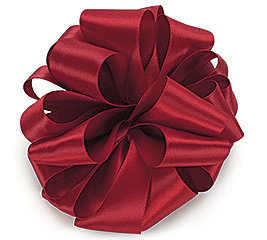 #9 SCARLET DOUBLE FACE SATIN RIBBON