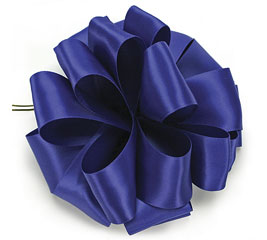 #9 ROYAL BLUE DOUBLE FACE SATIN RIBBON
