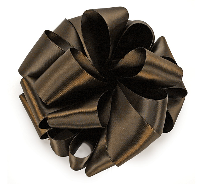 #9 BROWN DOUBLE FACE SATIN RIBBON