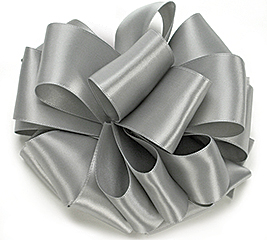 #9 SILVER DOUBLE FACE SATIN RIBBON