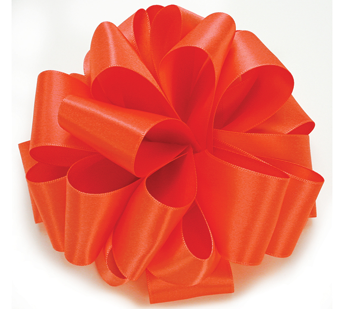 #9 LIVING CORAL DOUBLE FACE SATIN RIBBON