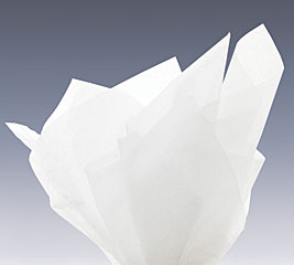 WHITE WAXED TISSUE PAPER