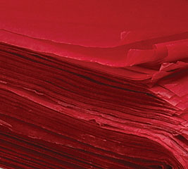 RED WAXED TISSUE