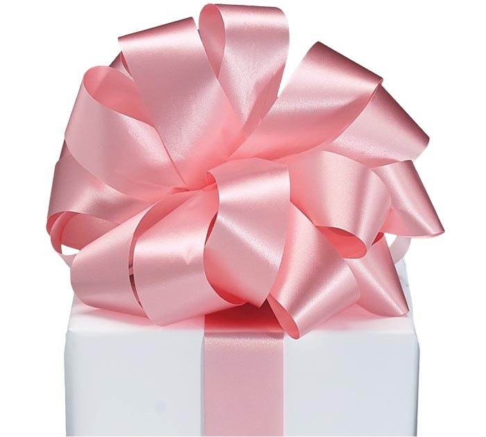 #9 PINK FLORA-SATIN RIBBON