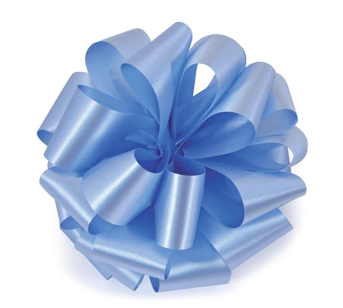#40 BLUE FLORA-SATIN RIBBON