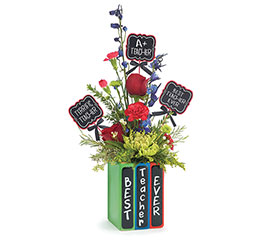 KIT BOOKWORM VASE WITH MESSAGE PICK
