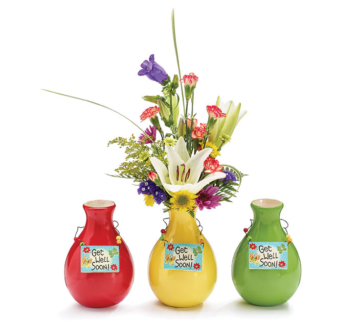 KIT GWS VASE WITH MESSAGE BLINGER