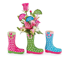 KIT RAIN BOOT VASE 3 GWS MESSAGE PICKS