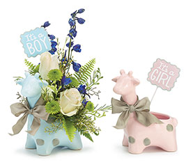 BLUE/PINK GIRAFFE PLANTER UPGRADE KIT