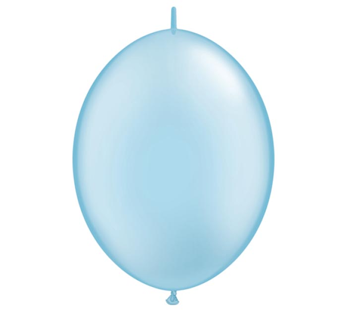 """6"""" PEARL LIGHT BLUE QUICK LINK"""