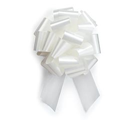 WHITE PULL BOW #9
