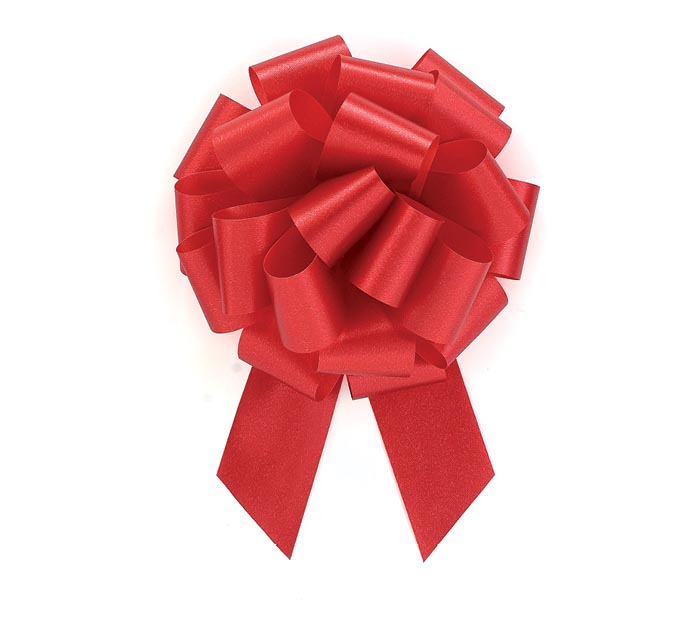 RED PULL BOW #9