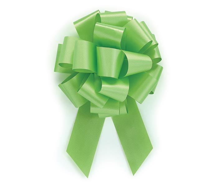 LIME GREEN PULL BOW #9