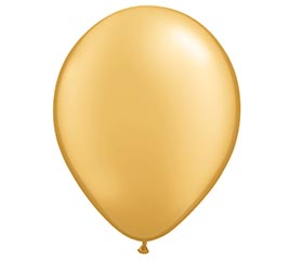 "9"" QUALATEX METALLIC GOLD LATEX"