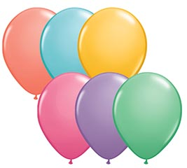 "Happy Birthday 11/"" Latex Balloons Pink Purple Black Triple Colour Pack of 6"