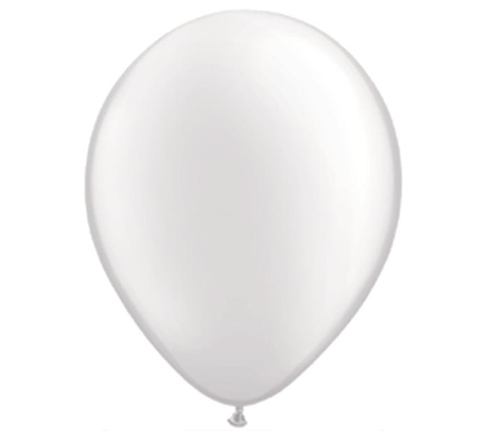 "11"" QUALATEX PEARL WHITE LATEX"