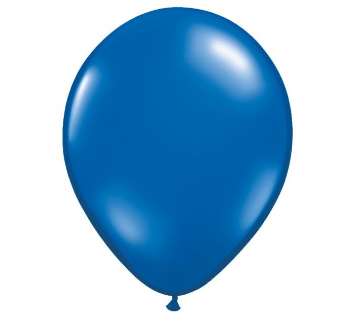 "11"" QUALATEX SAPPHIRE BLUE LATEX"