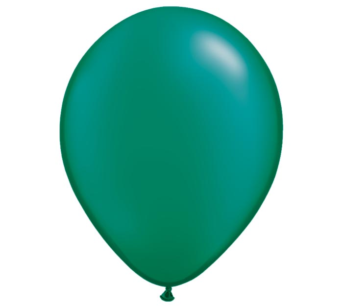 "11"" QUALATEX PEARL EMERALD GREEN LATEX"