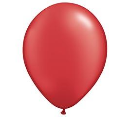 "11"" QUALATEX PEARL RUBY RED LATEX"